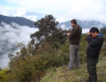 We do most of our forest birding from the road's edge – Bhutan has a great network of good roads that allow easy forest birding from the extreme west where we start this tour to the extreme east.